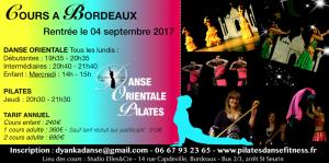 Rentrée cours danse orientale & pilates à Bordeaux